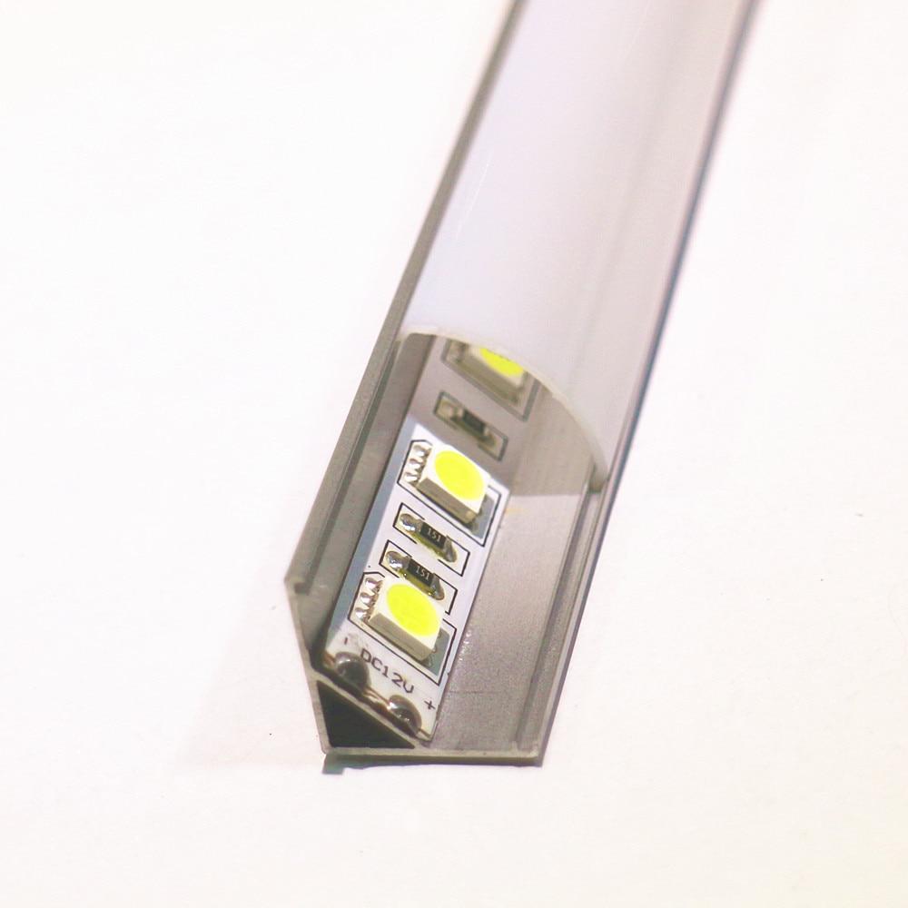 8шт 1м жолақты алюминий профилі 10мм - LED Жарықтандыру - фото 5