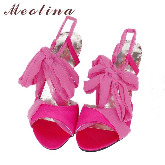 Meotina Gladiator Sandals Women 2017 Sexy High Heel Sandals Shoes Woman Black Sandals Gladiator Party Heels Summer Sandals Black