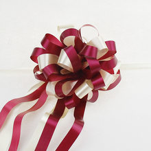 Baby Shower 10 Uds Pull Bow Ribbons boda cumpleaños fiesta decoración regalo embalaje romántico coche hogar Decoración DIY Pull Flower Ribbons, B(China)