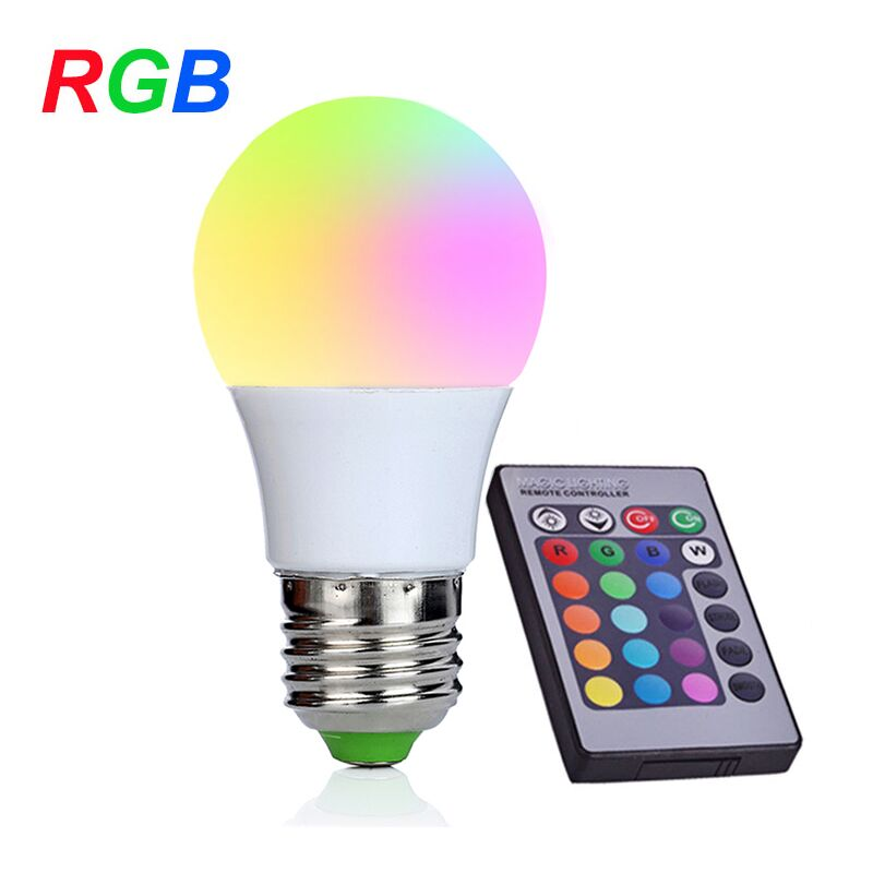 NEW E27 RGB LED Bulb 3W LED Lamp 110V 220V Mini High Power Lampada Colorful With Remote Controller 16 colors change led bulb lampara lamp home decoration 220v rgb led lamp e27 3w 5w 7w ir remote controller colorful lights bulb
