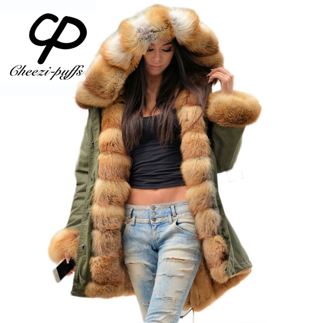 Veste femme capuche renard