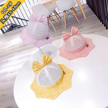 6m to 2 years old new childrens hat bowknot love han edition the sea tide shading fisherman baby toddler XA 253