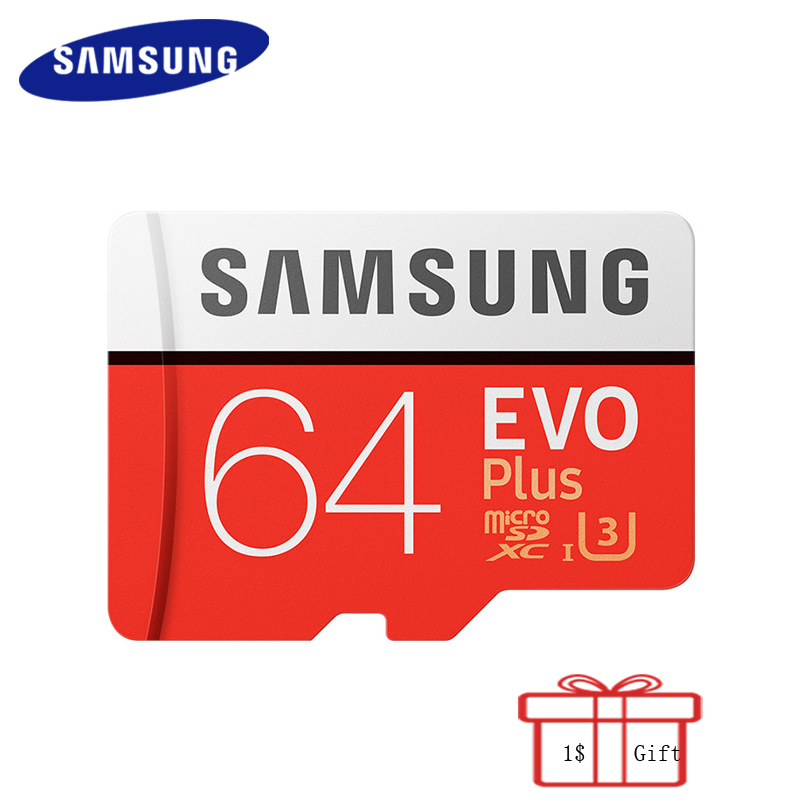 100% Original SAMSUNG Micro SD Card 64G 100Mb/s EVO Plus Memory Card Flash TF Card for Phone Pc Tablet with Mini SDXC Class10 U3