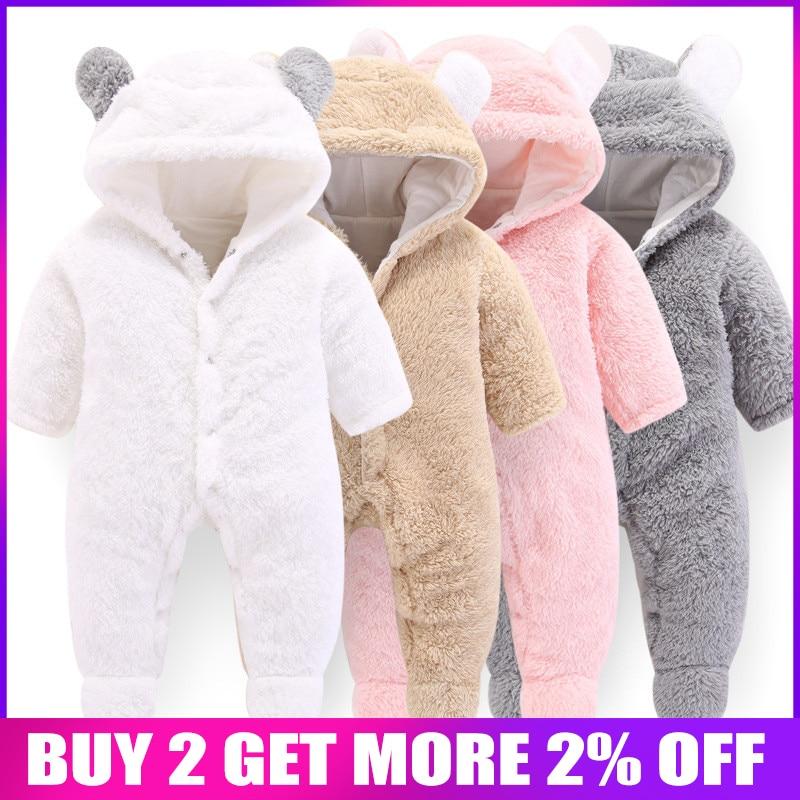 BibiCola baby   rompers   winter autumn bebe warm thick hoodies jumpsuit newborn   romper   cotton clothing baby sport sleepwear outfits