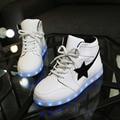 O Envio gratuito de Led Homens Sapatos Valentine Moda USB Recarregável Light Up Para Adultos 7 Cores Luminosas Homens Sapatos LEVARAM