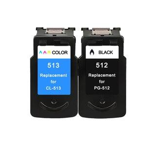 Image 2 - YLC Compatibile PG512 CL513 per Canon pg 512 cl 513 cartuccia di inchiostro per Pixma MP230 MP250 MP240 MP270 MP480 MX350 IP2700 stampante
