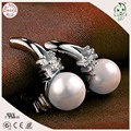 European And America Popular Good Quality 100% 925 Real Silver Cute Pearl Stud Earring