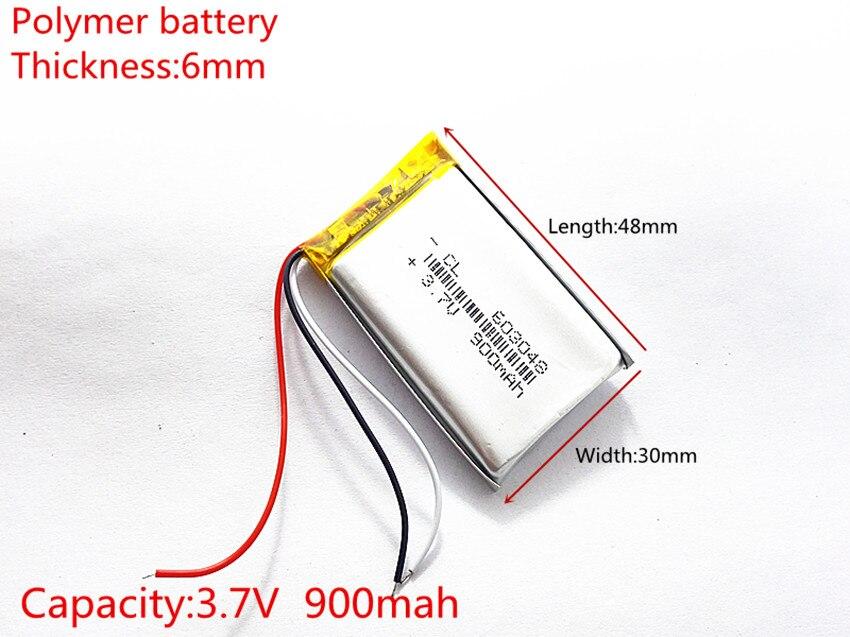 3 Linie 3,7 V, 900 Mah, [603048] Plib (polymer Lithium-ion/li-ion Batterie) Für Dvr; Mp5, Gps, Mp3, Mp4, Handy, Lautsprecher