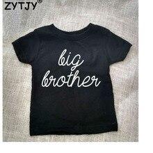 Детская футболка с надписью «Big Brother» рубашка для мальчиков и девочек повседневная детская одежда для малышей Забавные футболки Прямая поставка Z-2