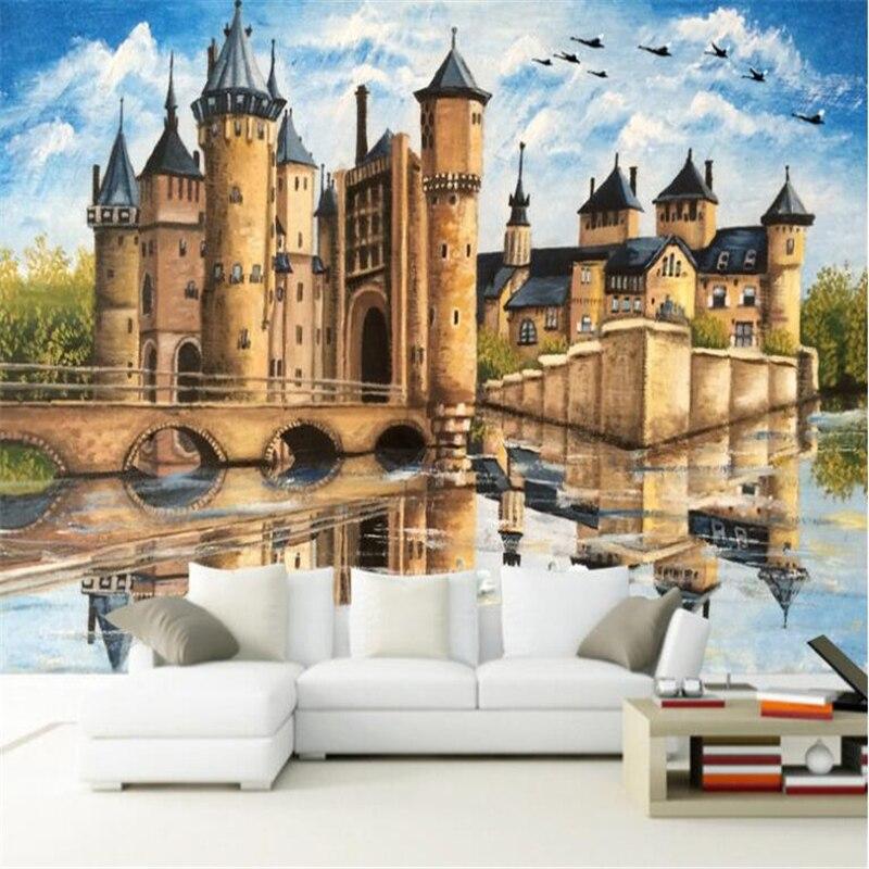 Обои для стен, домашний декор, американская мода, обои для стен, 3 d замок, фото обои, papel de parede infantil