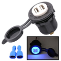 WUPP new car modified car motorcycle waterproof dual USB car charger cigarette lighter one 12V24V 4.2A