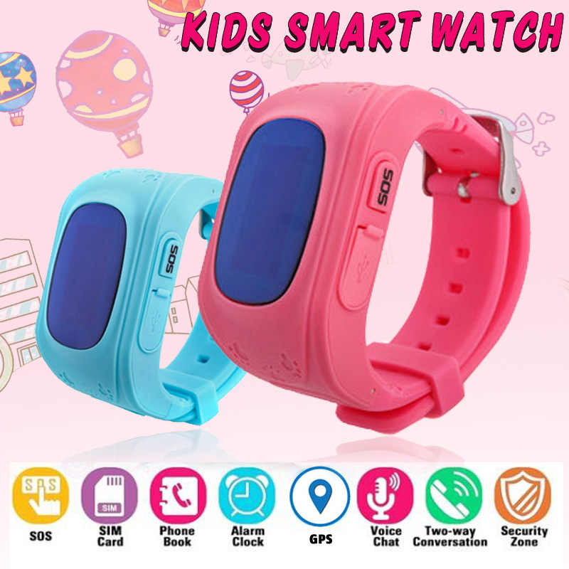 Q50 Anti Lost OLED Child GPS Tracker SOS Smart Monitoring Positioning Watch Phone Kids GPS Baby Watch Compatible IOS & Android