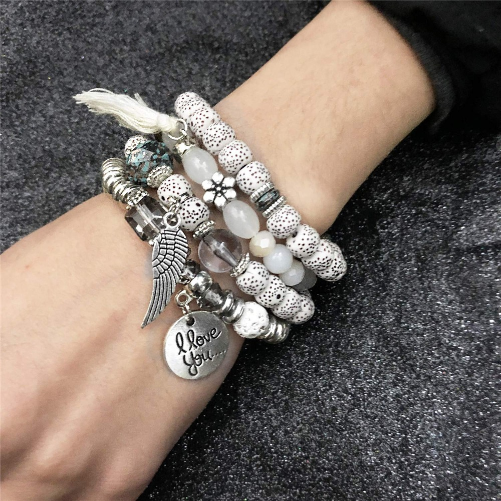 angel wing charms bracelets