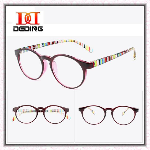 Presentes de natal Coréia Do Sul Retro Óculos Redondos Mulheres Óculos Homens Lente Clara Óculos de Miopia Quadro TR90 Ultraleve DD0766