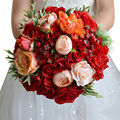 Wedding Flowers Bridal Bouquet Red Roses bouquet wedding accessories Bride Bouquet Wedding Bouquet Bride Holding Flowers FE18