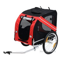 20inch Inflatable Wheel Pet Trailer, Aluminum Frame Bicycle Trailer Dog Carrier, Large Bike Trailer for Dogs, Can Hold 88lbs