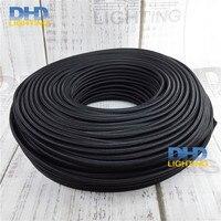Ücretsiz kargo 3X0.75mm 3 çekirdek siyah kumaş elektrikli tel kolye lamba kablosunun masa lambası güç kablosu DIY aydınlatma tel kablo