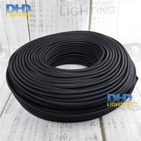10m Lot 3X0 75mm 3 Cores Black PVC Electric Wire Pendant Lamp Cable Table Lamp Power