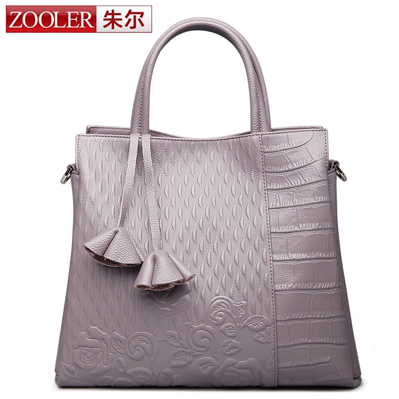 ZOOLER New Fashion Designer Women Handbag Female Genuine Leather Bags Handbags Ladies Shoulder Bag Office Ladies Hobos Bag Totes luxury genuine leather bag fashion brand designer women handbag cowhide leather shoulder composite bag casual totes
