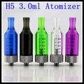 10 unids/lote H5 vaporizador cartomizer 3.0 ml atomizador ego No fugas Cheapest para ego t batería ego e-cigarrillo kit
