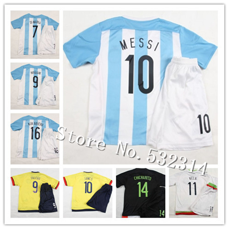 best value ce945 daa70 2015 16 Kids Youth Infant Children Boy Argentina #10 MESSI ...
