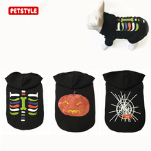 2017 Black Halloween Dog Dog Clothes Holiday Sweater Hoodie Clothing Dress Up Day Ghost Festival Sweater Warm Pet Jacket