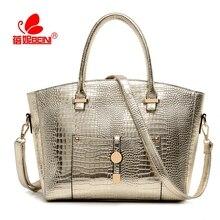 Women Luxury Crocodile Bag Designer Handbag Alligator Leather Female Shoulder Crossbody Shell Bag Bolsa Feminina Sac A Main 2016