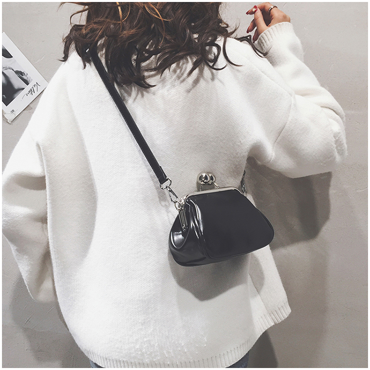 bags women leather shoulder crossbody bag women's handbag kiss lock bag (9)