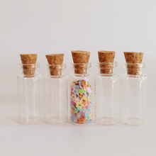 50pcs/lot Cute Mini 1.5ml clear corked glass bottle 12*28*6mm DIY drifting small Essential oil