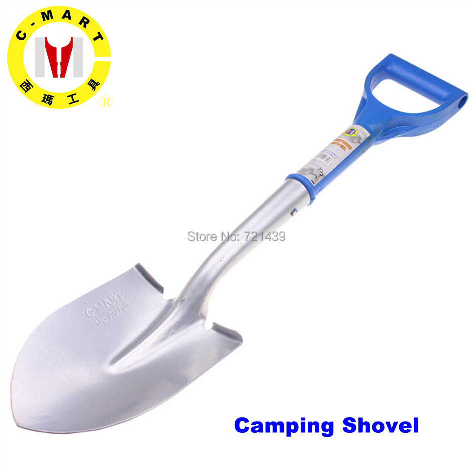 Garden Spade C MART 25 Inch camping Scoop multifunctional outdoor survival snow climbing tools plastic handle shovel A0702