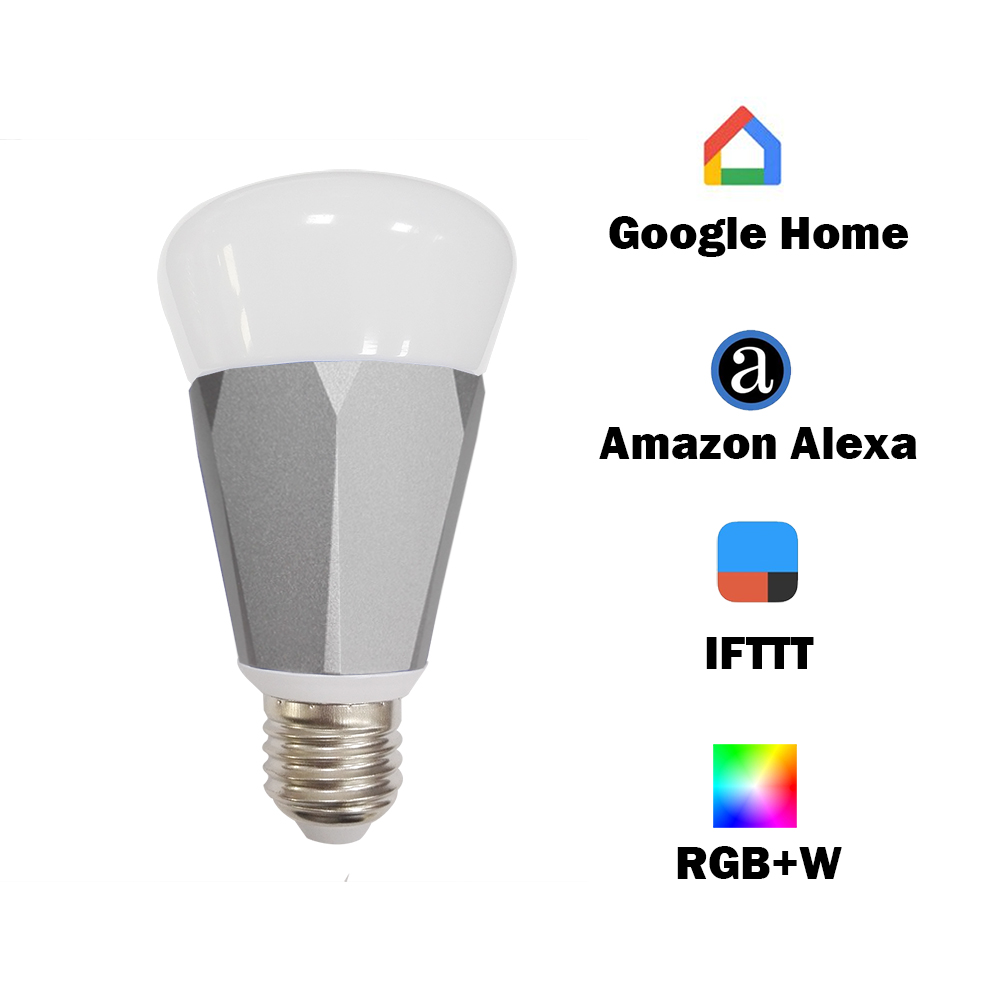 Light Voice APP WIFI 2018 Alexa Echo Google Home IFTTT Lamp RGBW Timer Control 110v to 240v ...