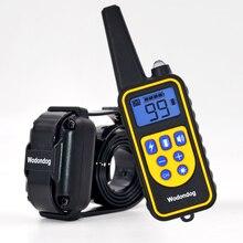 800M הלם חשמלי קולרים לכלבים IP7 צלילה עמיד למים 915MHz שלט רחוק מכשיר טעינה LCD תצוגה