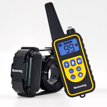 Obroża treningowa dla psów porażenie prądem obroża dla psów IP7 nurkowanie wodoodporna 915MHz zdalne sterowanie urządzenie dla psów ładowanie wyświetlacza LCD tanie i dobre opinie Wodondog Obroże szkoleniowe L880 Z tworzywa sztucznego