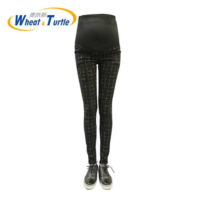2016 Hot Sale New Elastic Waist Casual Maternity Pants ,Protect Belly In All Directions,Chic Pencil Trousers For Pregnant Women