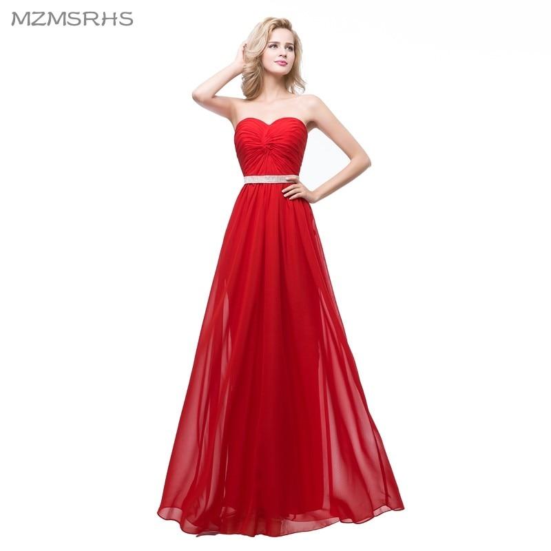 Vestido rojo largo fiesta barato