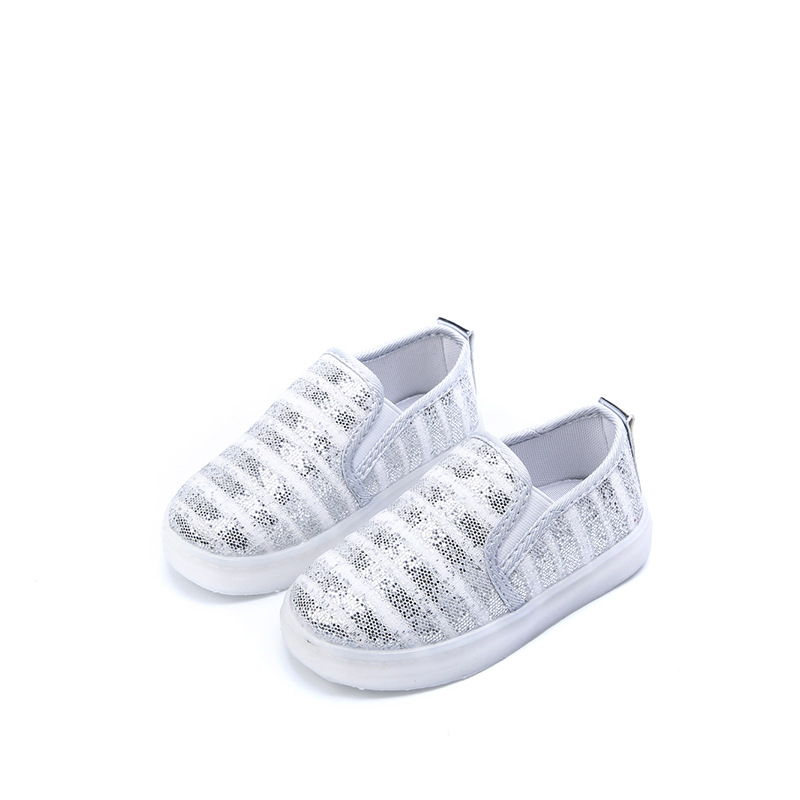 kids Sneakers New Led Lighted Sports Mesh Breathable Flexible Fashion Girls Shoes Children school student boys Shoes Size 26-30