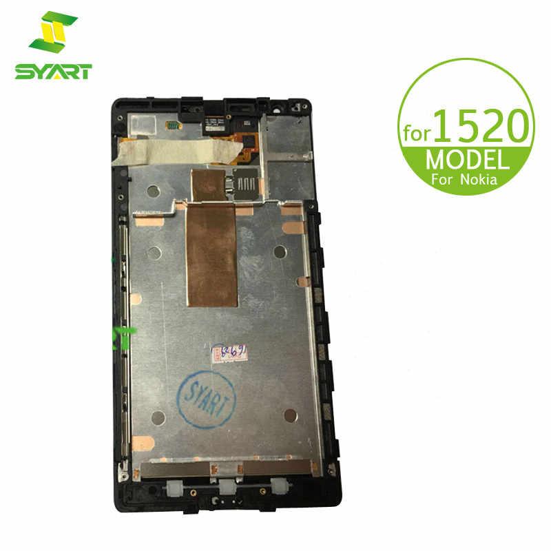 Фото Для Nokia Lumia 1520 ЖК дисплей Дисплей Сенсорный экран дигитайзер для сборки с корпусом