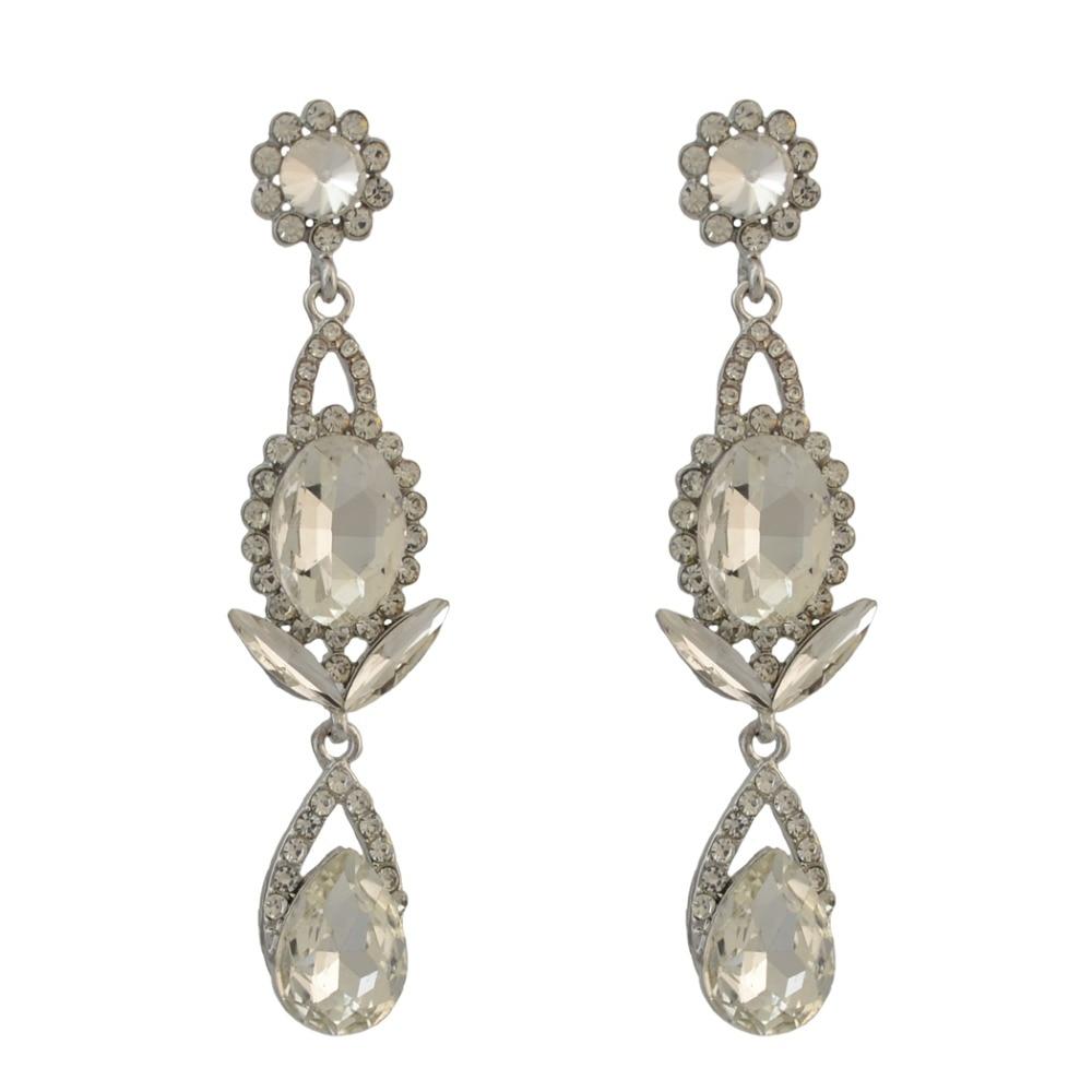 New Arrived Fashion Shiny Droptear Diamante Crystal Dangle Pendant