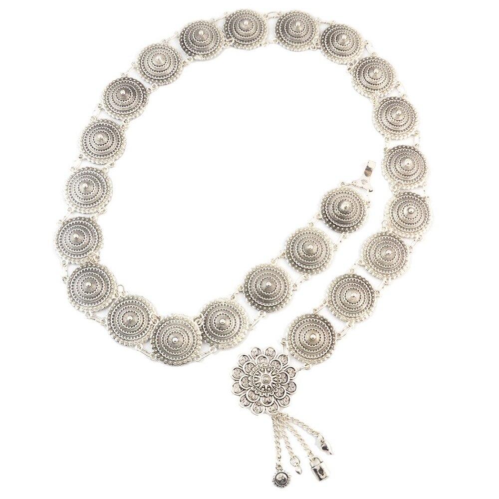 338701695e51 Cadena de cinturón de borla de Metal de plata Tribal al por mayor cadenas  de cuerpo