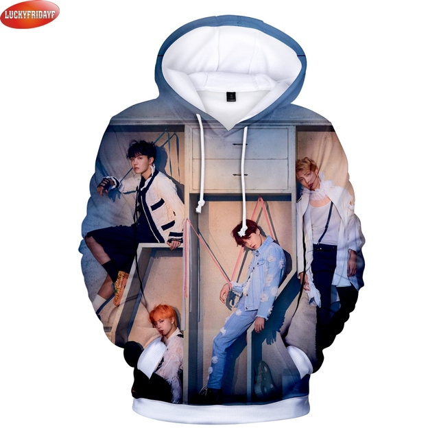 70c34ff23d45 2018 BTS New Album LOVE YOURSELF ANSWER Kpop Hoodies Women Men Fashion 3D  Print Hooded Sweatshirts BTS Streetwear Fans Hoodies