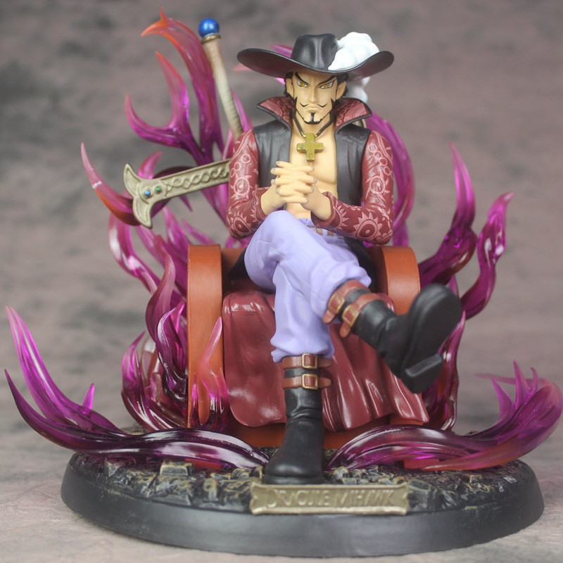 23cm Anime One Piece Figures Eagle Eye Dracule Mihawk PVC Action Figure Collection Model Toys For Boy Gift anime one piece boa hancock figure sexy limited edition collection model toys 23cm