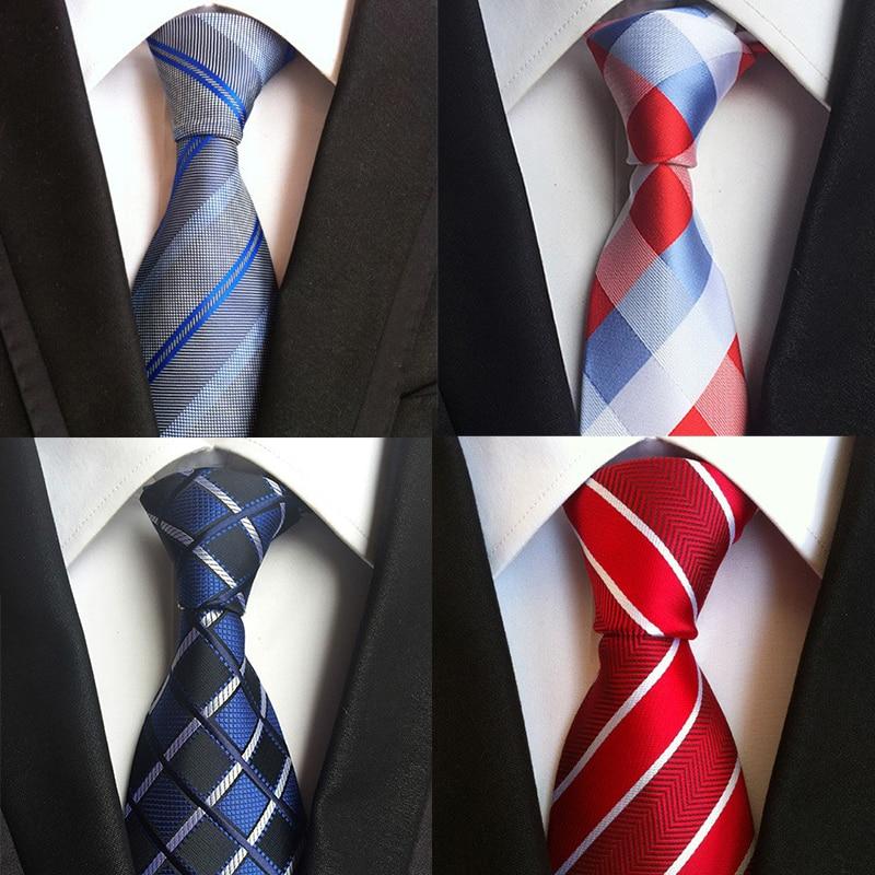 Mantieqingway 8cm férfi öltöny csíkos nyomtatott poliészter Corbatas vőlegény Vestidos nyakkendők nyomtatott nyakkendő