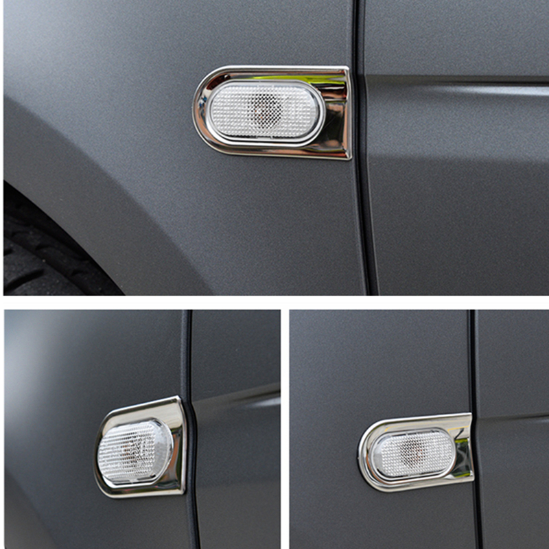 Stainless Steel Turn Signal Decorative Frame For Mercedes New Smart Fortwo 453 Leaf Board Car Stickers Auto Parts Modification