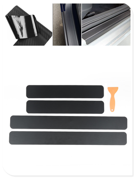 4 pieces of car shape carbon fiber door edge scratch protection film for BMW i8 Z4 X5 X4 X2 X3 M5 M2 X6 M6 640i 640d image