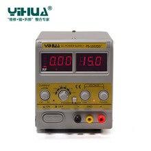 Новейший YIHUA 1502DD + для мобильного телефона 15 V 2A Регулируемый постоянного тока источник питания с светодиодный дисплеем