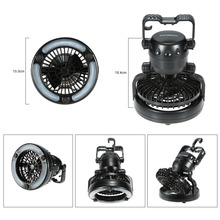 Portable Camping LED Light With Fan