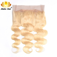 Aliafee 360 Lace Frontal Closure 613 blonde Body Wave Brazilian Human Remy Hair With Baby Hair Pre Plucked