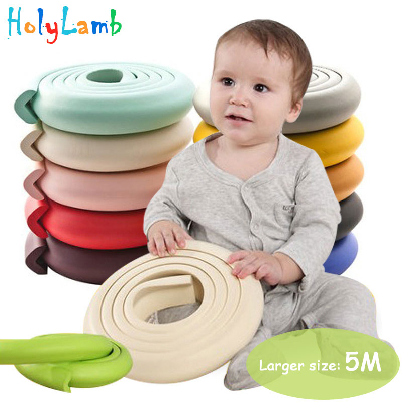 5M Children Protection Table Guard Strip Baby Safety Products Glass Edge Furniture Horror Crash Bar Corner Foam Bumper Collision