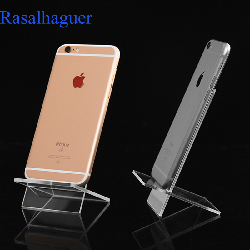 Rasalhaguer Hot Sale Acrylic Display Shelf Mobile Wallet Glasses Rack 1 Layer Cellphone Jewelry Display Keychain Stand Wholesale