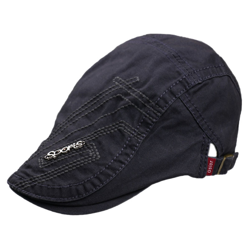 HUOBAO Vintage Men 39 s Letter Embroidery Newsboy Hat Gorras Casquette Hats For Women Unisex Beret Cap Hat Mens Cabbie Hats in Men 39 s Berets from Apparel Accessories